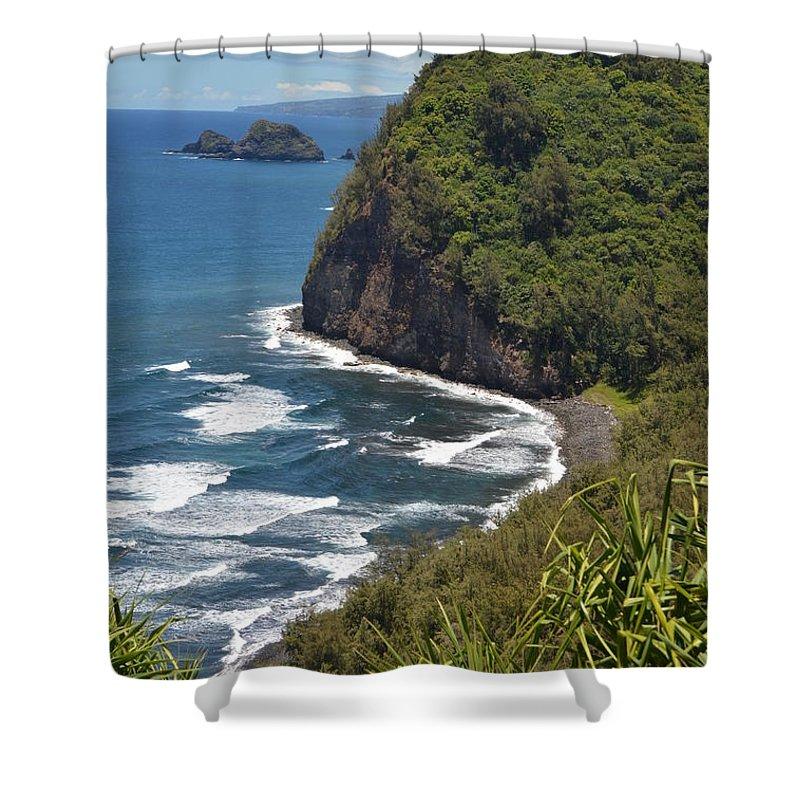 Kona Shower Curtain featuring the photograph North Kona Coast 1 by Amy Fose