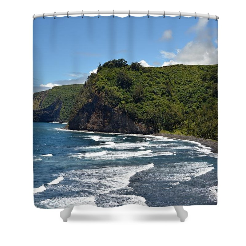 Kona Shower Curtain featuring the photograph North Kona Coast 2 by Amy Fose