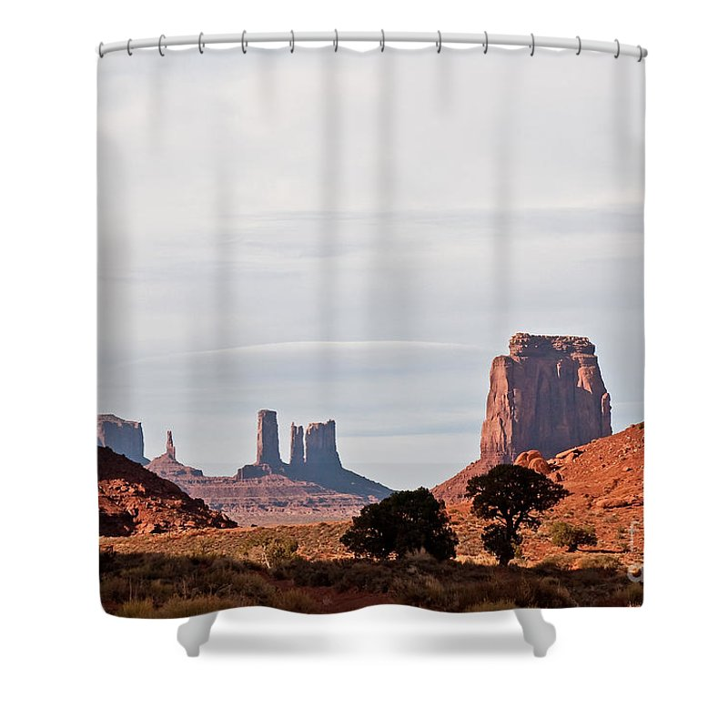 Serene Shower Curtain featuring the photograph North Window by Jim Chamberlain
