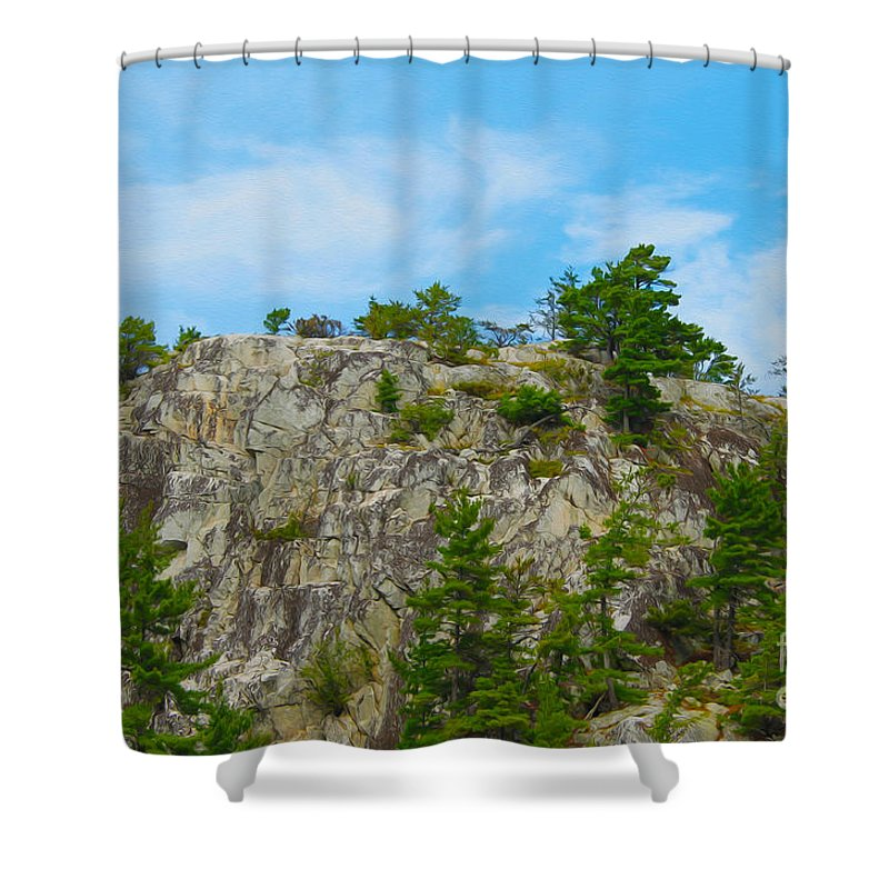 Canada Shower Curtain featuring the photograph Northern Ontario Rock Face by Nina Silver