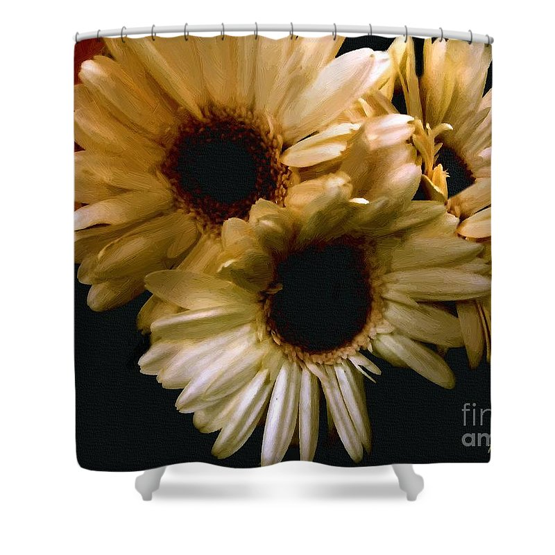 Flowers Shower Curtain featuring the painting Northern Renaissance Rustic by RC DeWinter