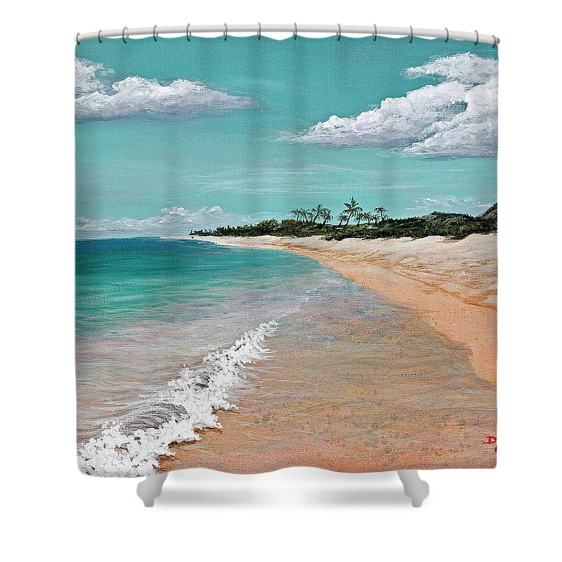 Hawaii Shower Curtain featuring the painting Northshore Oahu by Darice Machel McGuire