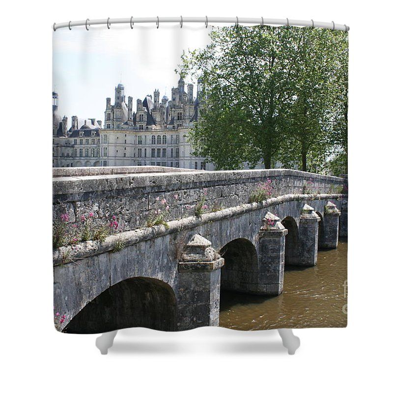 Palace Shower Curtain featuring the photograph Northwest Facade Of The Chateau De Chambord by Christiane Schulze Art And Photography