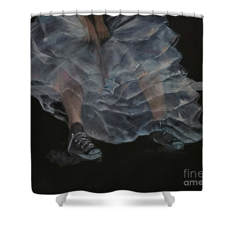 Oilpainting Shower Curtain featuring the painting Not My Party by Sonja Roosenhart