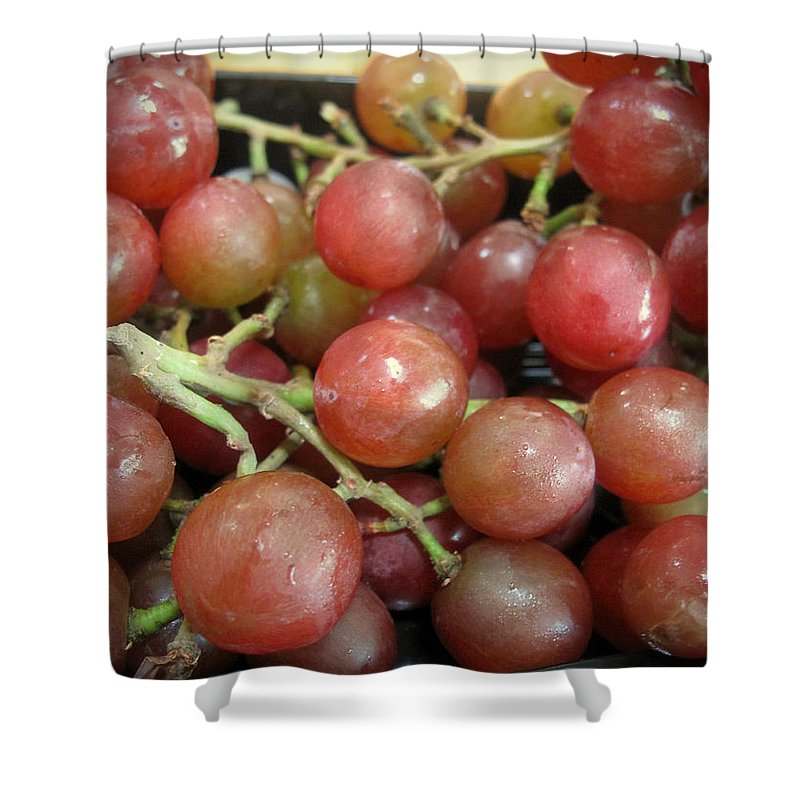 Grapes Shower Curtain featuring the photograph Not Sour Grapes by Barbara McDevitt