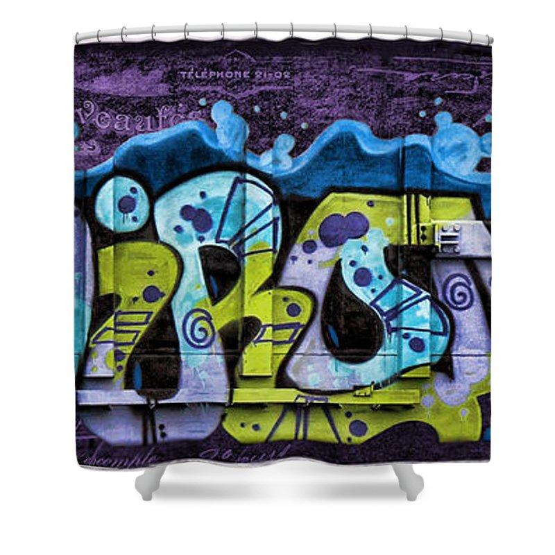Nouveau Shower Curtain featuring the photograph Nouveau Graffiti by Sylvia Thornton