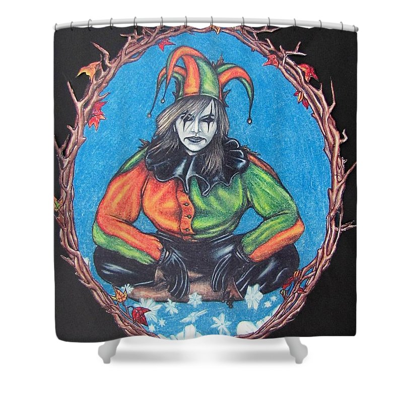 Michael Shower Curtain featuring the drawing November Snow by Michael TMAD Finney