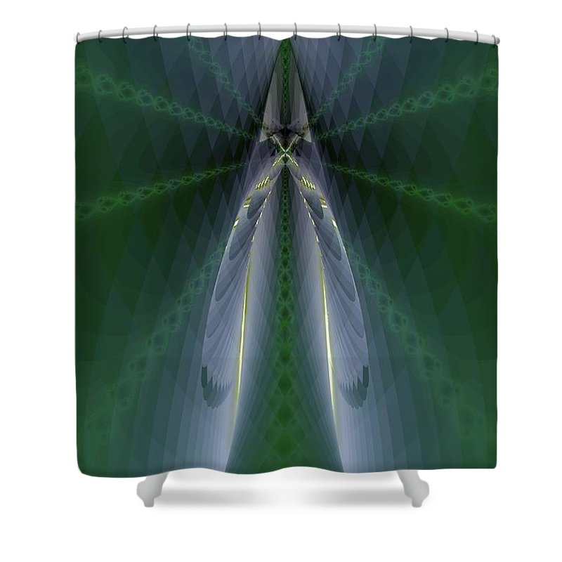 Nu N Sect Shower Curtain featuring the digital art Nu N Sect by Elizabeth McTaggart