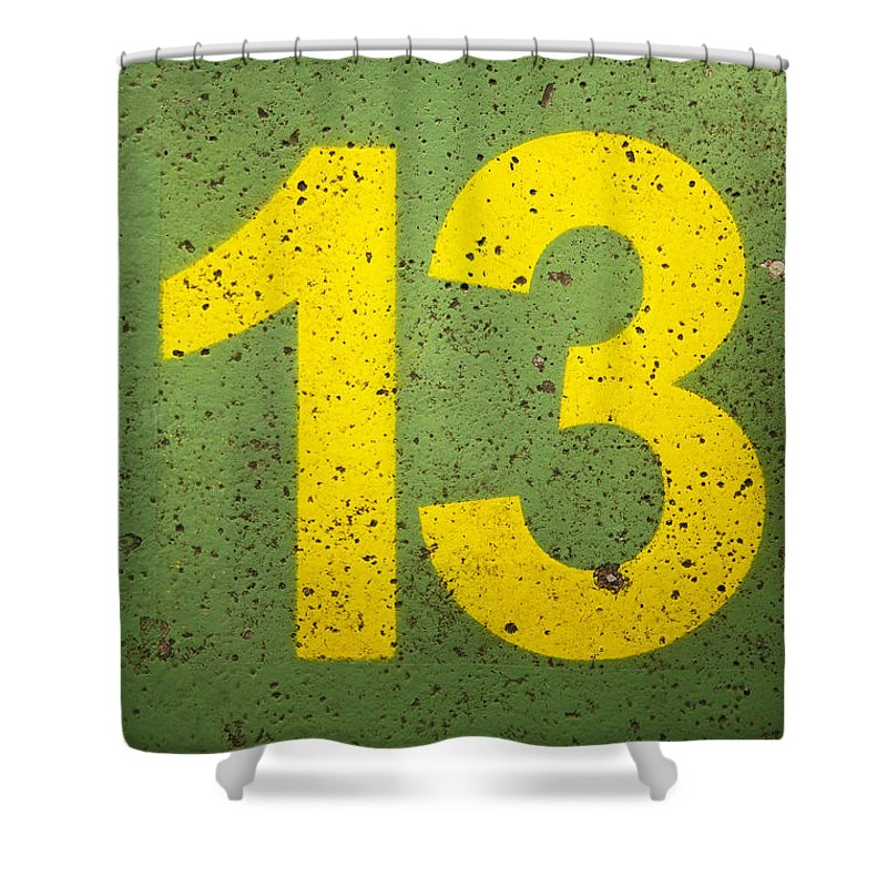 Shower Curtain featuring the photograph Number 13 by Chevy Fleet