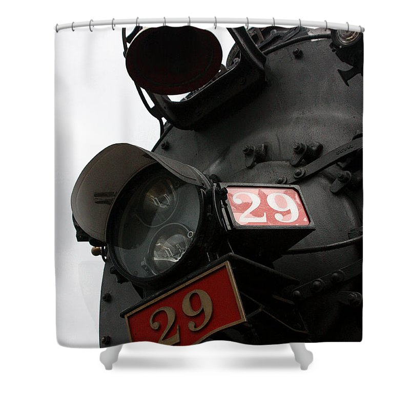 Steam Engine Shower Curtain featuring the photograph Number 29 by Joe Kozlowski