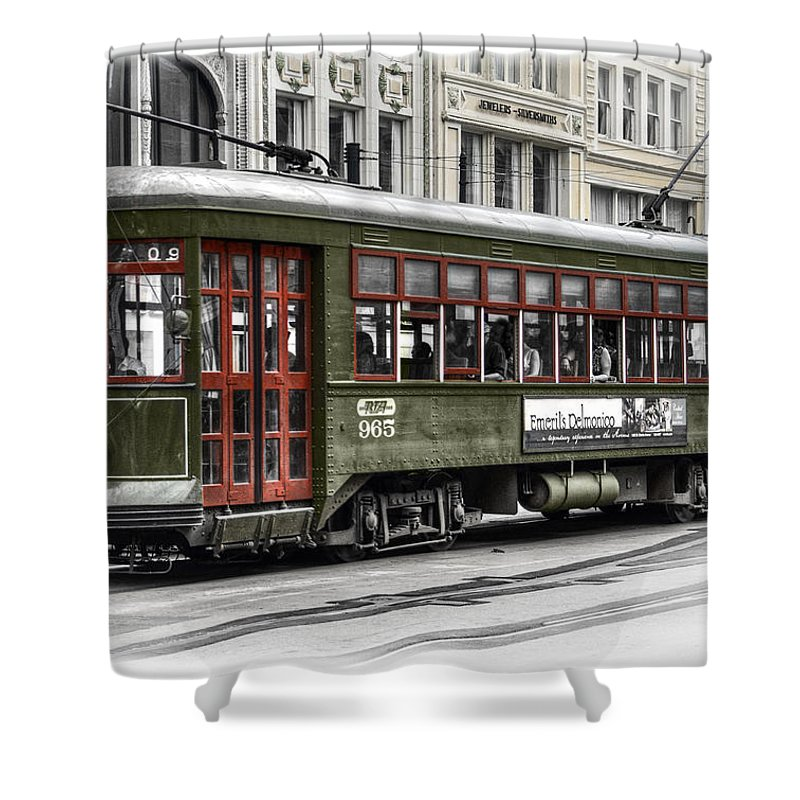 Trolley Shower Curtain featuring the photograph Number 965 Trolley by Tammy Wetzel