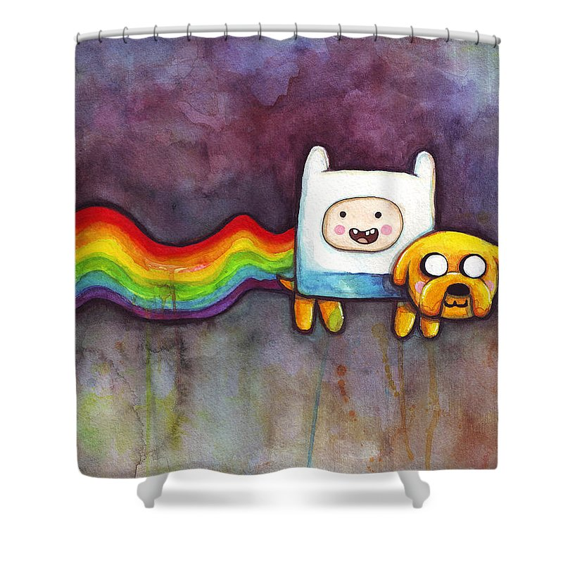 Nyan Cat Shower Curtains Fine Art America