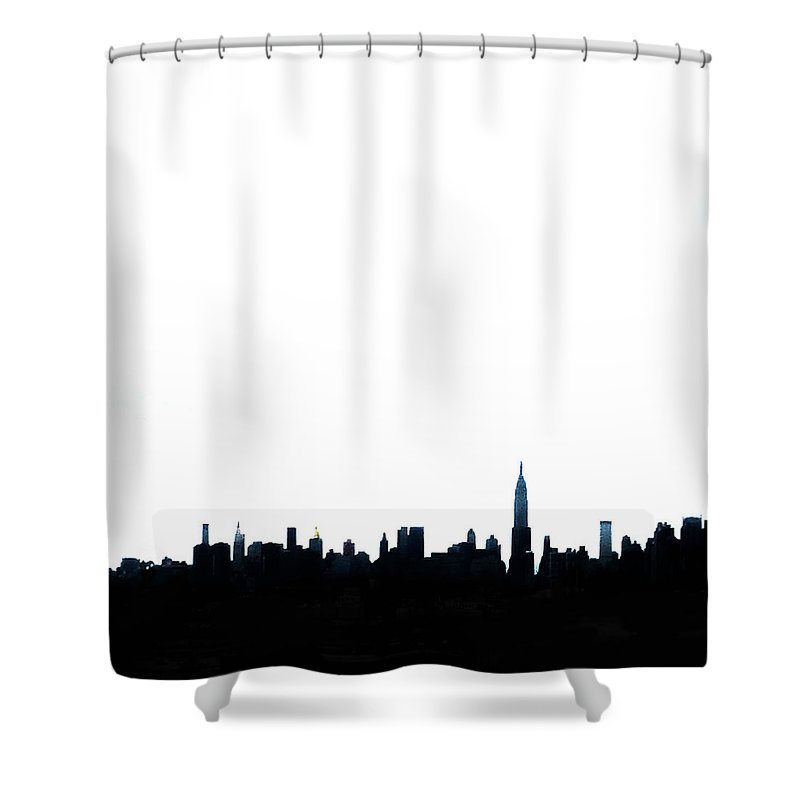 Nyc Shower Curtain Featuring The Photograph Silhouette By Natasha Marco