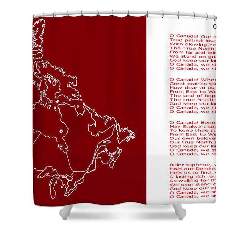 O Canada Lyrics And Map Shower Curtain on