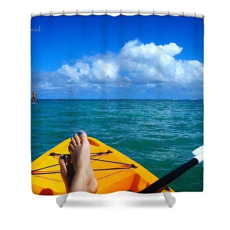 Toe Shower Curtain featuring the photograph Oahu Toes by Jamie Johnson
