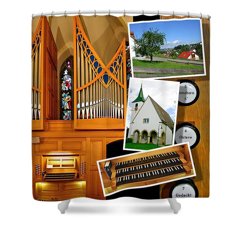 Oberboihingen Shower Curtain featuring the photograph Oberboihingen Montage by Jenny Setchell