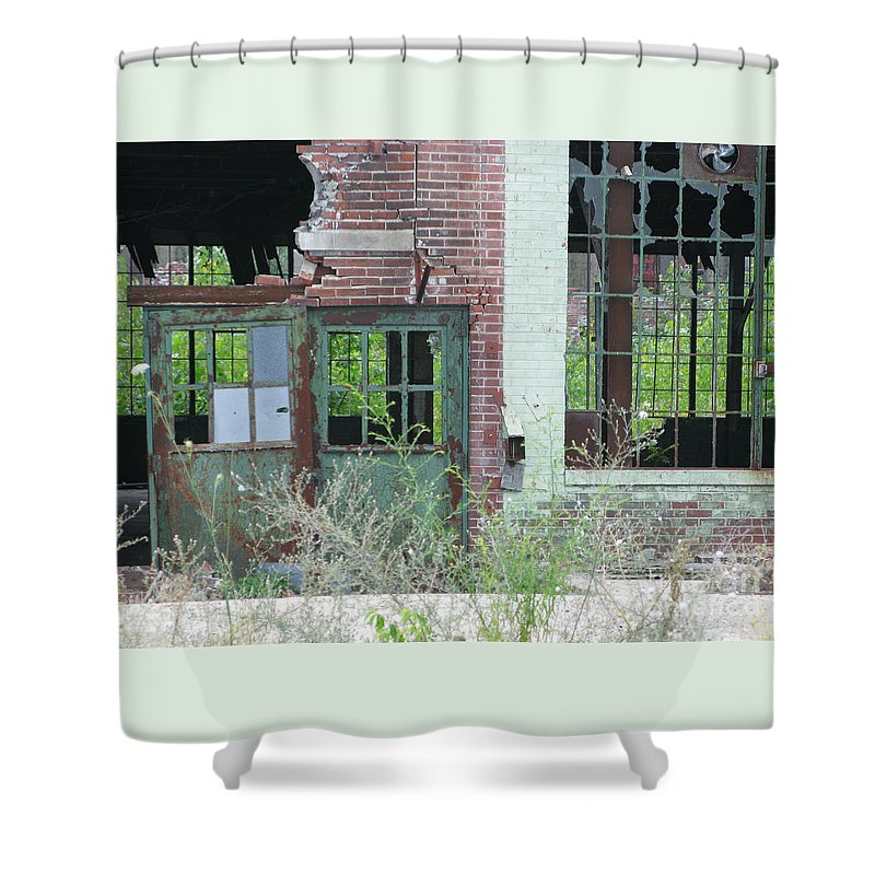 Factory Shower Curtain featuring the photograph Obsolete by Ann Horn