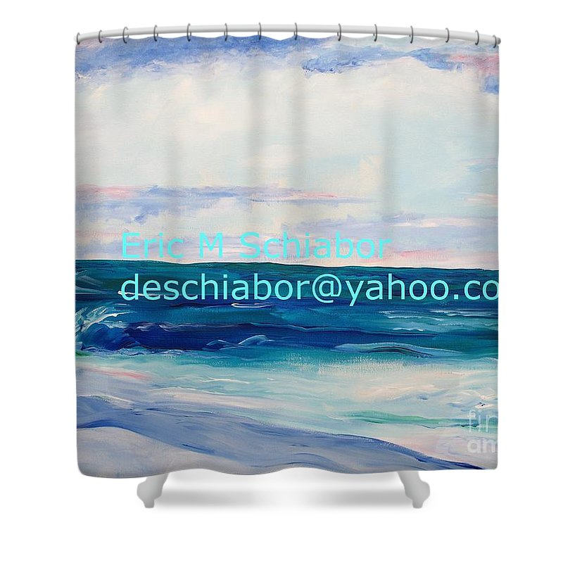 Floral Shower Curtain featuring the painting Ocean Assateague Virginia by Eric Schiabor