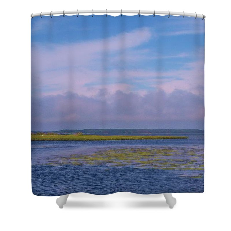 Bay Shower Curtain featuring the photograph Ocean City Maryland by Eric Schiabor