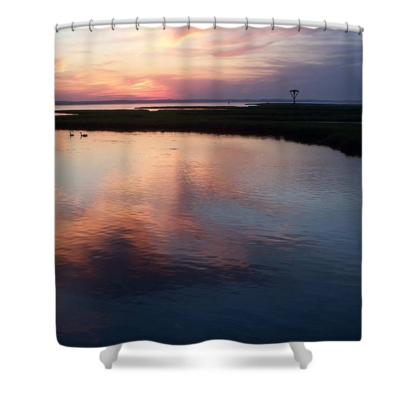 Bay Shower Curtain featuring the photograph Ocean City Md by Eric Schiabor