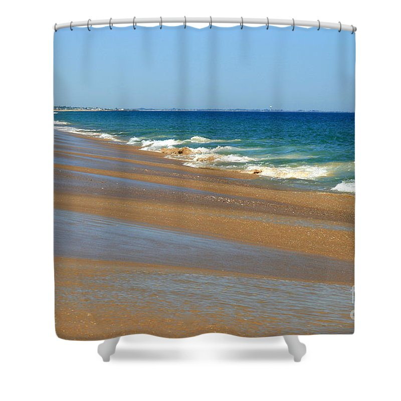Ocean Art Shower Curtain featuring the photograph Ocean Lines by Neal Eslinger
