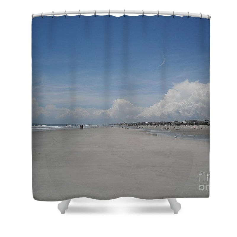 Fripp Island Shower Curtain featuring the photograph Ocean Stroll by Michelle Welles