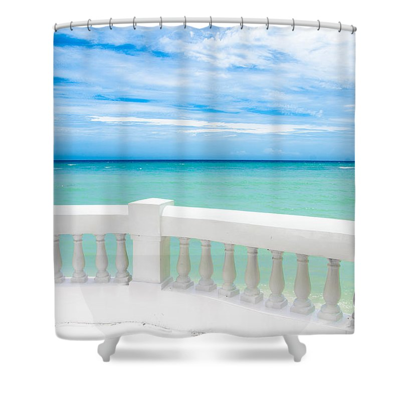 Sea Shower Curtain featuring the photograph Ocean View by Jacquelyn Crady