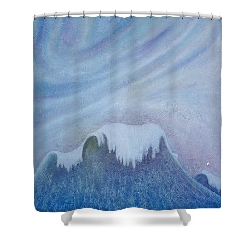 Ocean Shower Curtain featuring the painting Ocean Wave by Micah Guenther