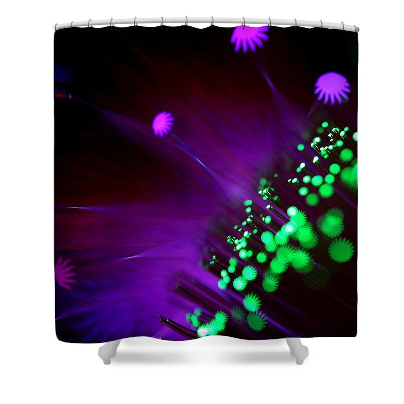 Abstract Shower Curtain featuring the photograph Octopus's Garden by Dazzle Zazz
