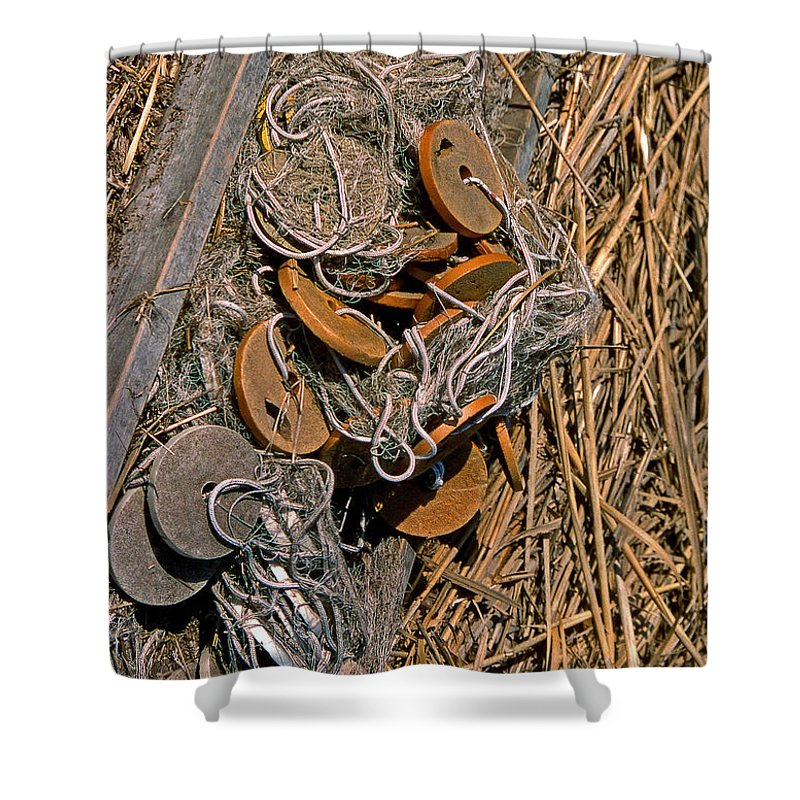 Nets Shower Curtain featuring the photograph Of Nets And Things by Skip Willits