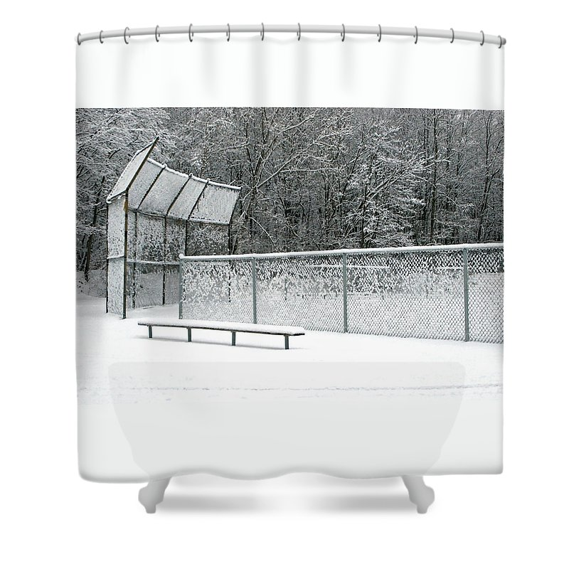 Winter Shower Curtain featuring the photograph Off Season by Ann Horn