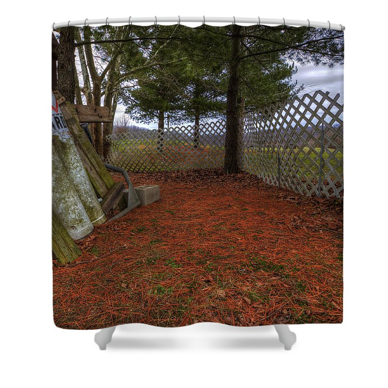 Off Season Shower Curtain featuring the photograph Off Season by David Dufresne