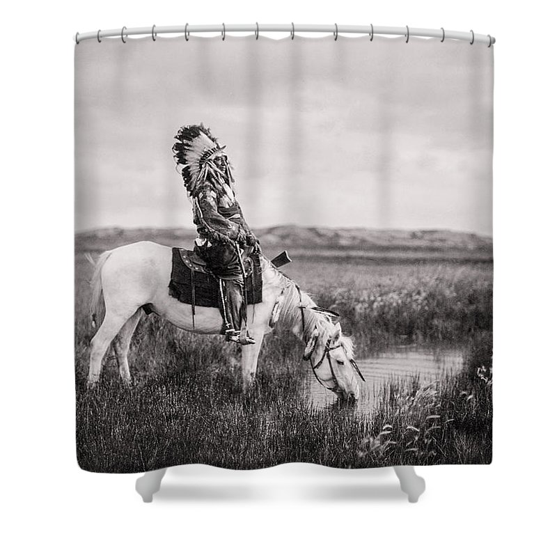 Man Riding Horse Shower Curtains
