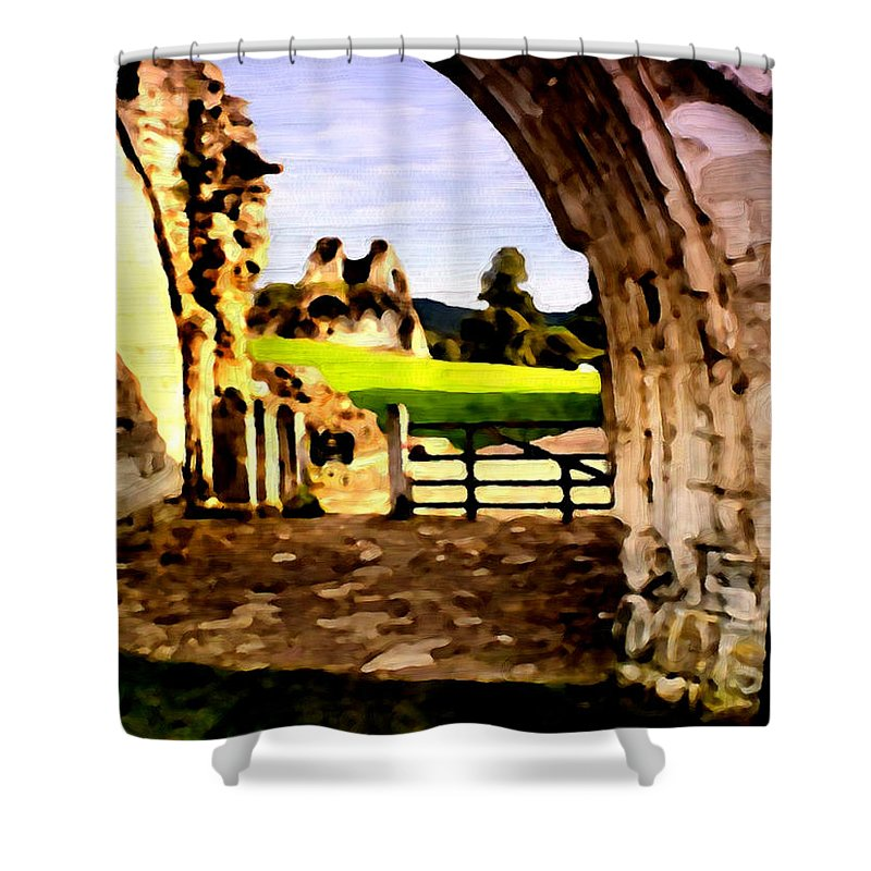 Oil Painting Shower Curtain featuring the painting Oil Painting by Bruce Nutting