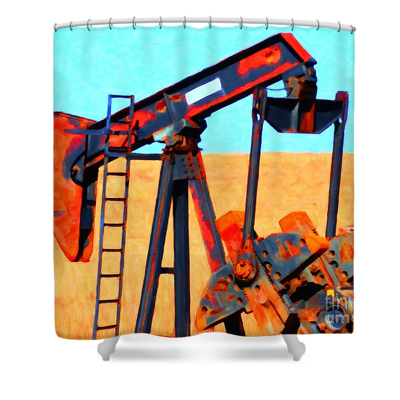 Oil And Gas Shower Curtains