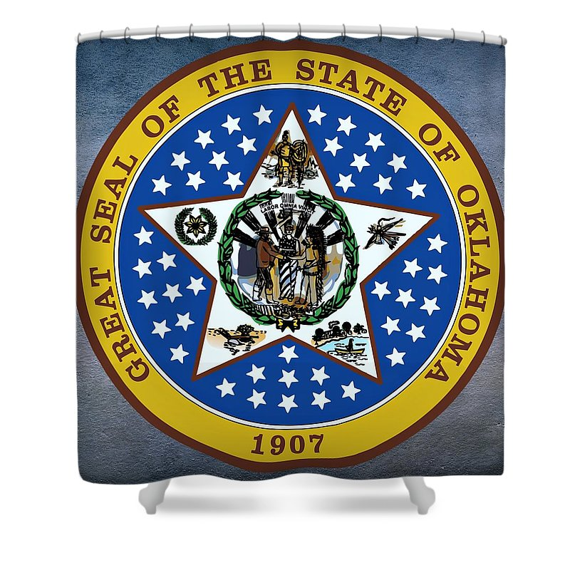 Oklahoma State Seal Shower Curtain For Sale By Movie