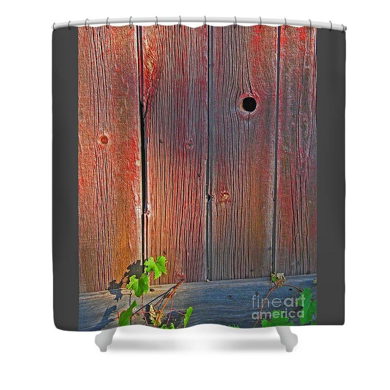 Barn Shower Curtain featuring the photograph Old Barn Wood by Ann Horn
