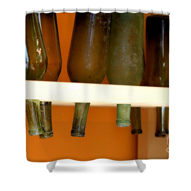Bottles Shower Curtain featuring the photograph Old Bottles by Carol Groenen
