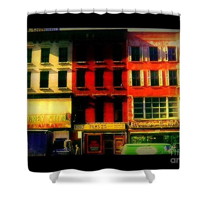 Old Buildings Of New York City Shower Curtain featuring the photograph Old Buildings 6th Avenue - Vintage Nyc Architecture by Miriam Danar