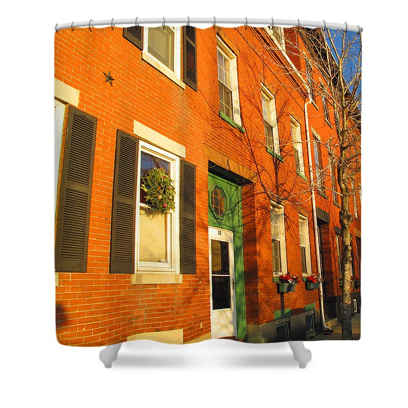 Cityscape Shower Curtain featuring the photograph Old Charestown Neighborhood by Barbara McDevitt