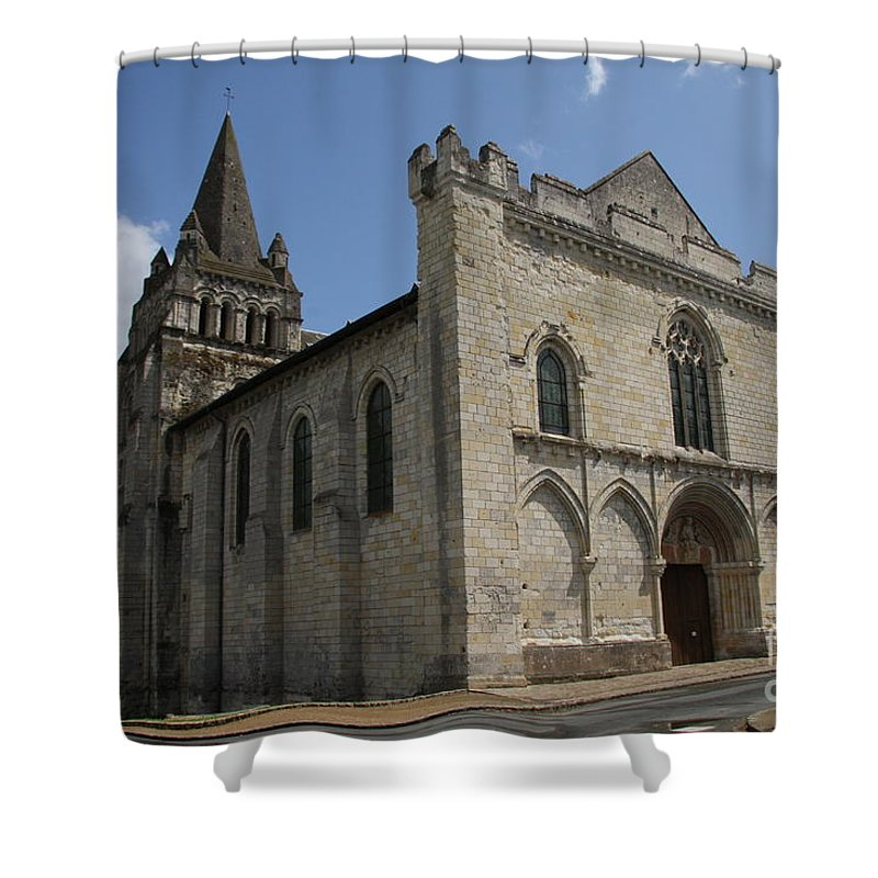 Church Shower Curtain featuring the photograph Old Church - Loire - France by Christiane Schulze Art And Photography
