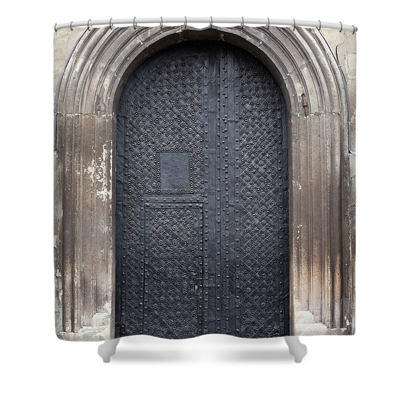 Gothic Style Shower Curtain featuring the photograph Old Door by Viktor gladkov