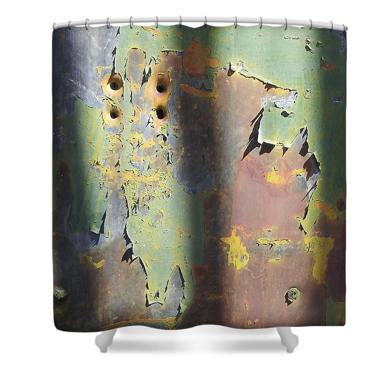 Street Art Shower Curtain featuring the photograph Old Door by Zac AlleyWalker Lowing
