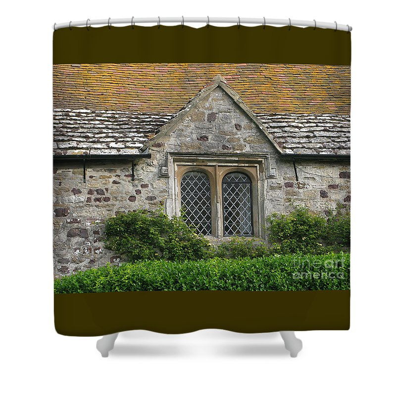 England Shower Curtain featuring the photograph Old English by Ann Horn