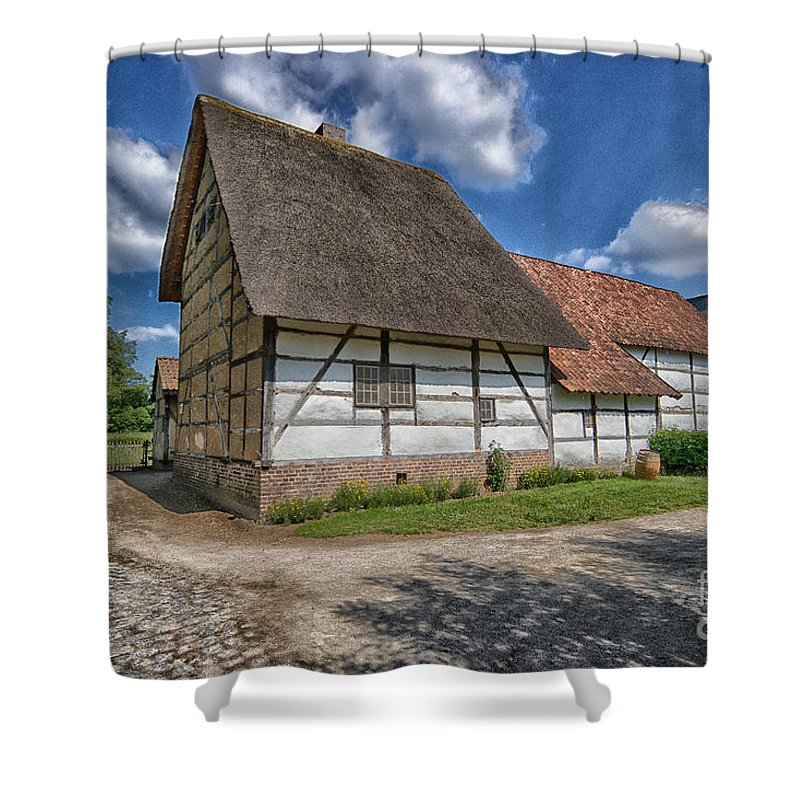 Old Belgian Farm Shower Curtain featuring the photograph Old Farm by Brothers Beerens