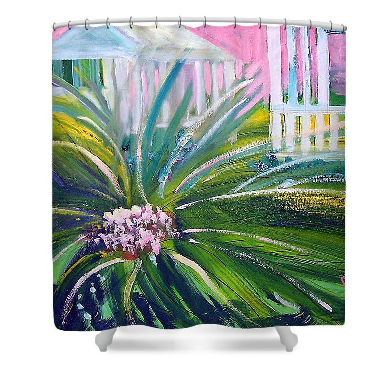 Landscape Shower Curtain featuring the painting Old Florida by Patricia Taylor