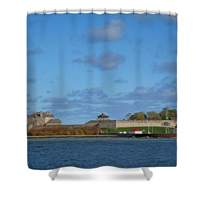 Seascape Shower Curtain featuring the photograph Old Fort Niagara by Barbara McDevitt