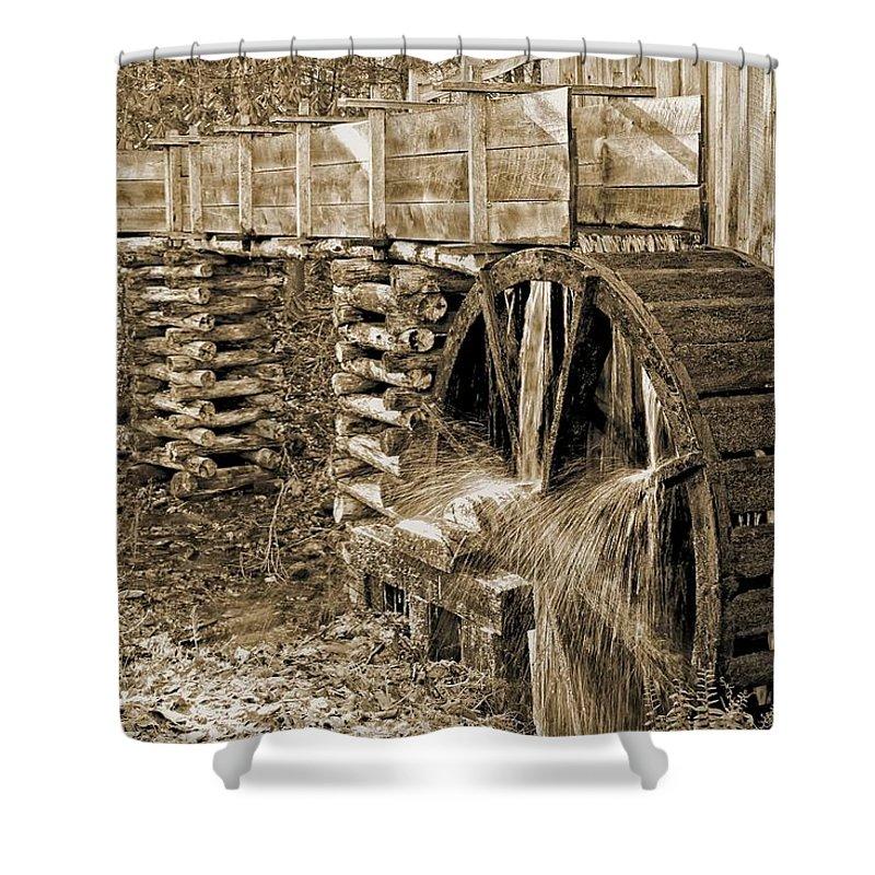 Old Mill Shower Curtain featuring the photograph Old Grist Mill Photo by Michael J Samuels