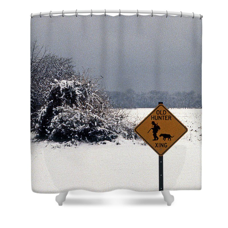 Nature Shower Curtain featuring the photograph Old Hunter by Skip Willits