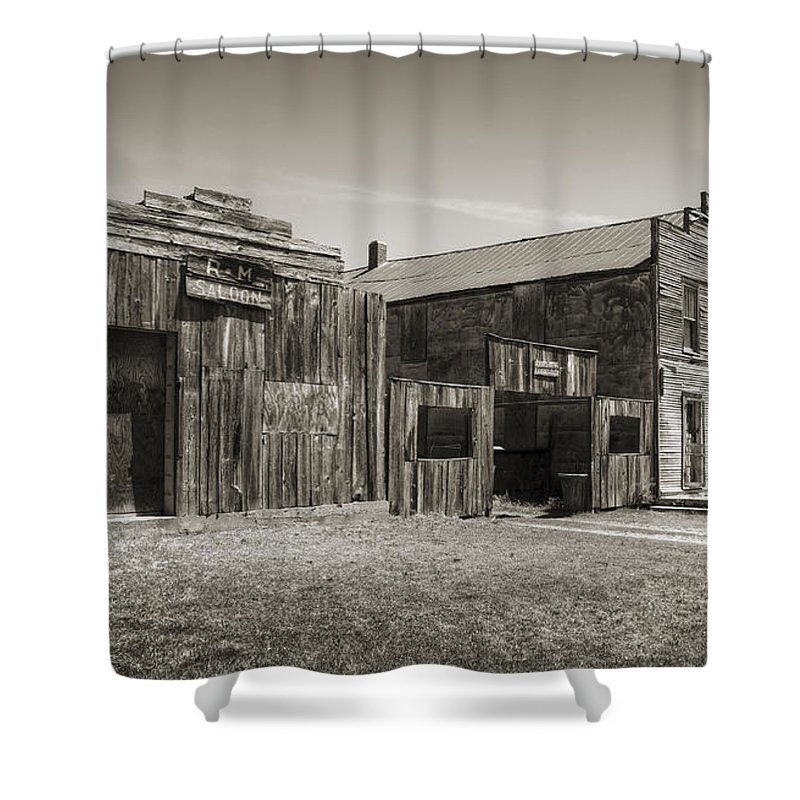 Ingalls Shower Curtain featuring the photograph Old Ingalls II by Ricky Barnard